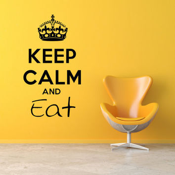 Keep Calm And Eat Wall Decal