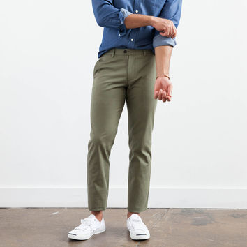 Olive Twill Trouser