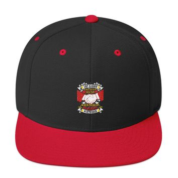 Left handed and Extra! Snapback Hat