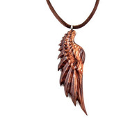 Men's Necklace, Angel Wing Necklace, Angel Wing Pendant, Men's Wood Necklace, Wood Wing Necklace, Wing Pendant, Wing Necklace, Mens Jewelry