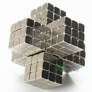 Hot Sale3mm 216 pcs Puzzle Cube Toy Sphere Magnetic Balls 6*6*6 with Metal box