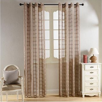 Sheer Curtains Window Treatments - Dolce Mela DMC485