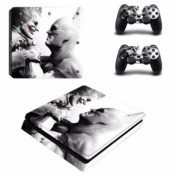 White Batman Joker Vinyl Decal Skin For playstation 4 Console +2Pcs Stickers For ps4 Controllers