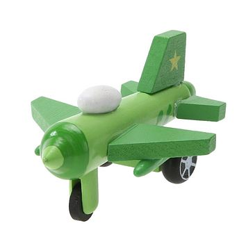 Mini Multi Pattern Wooden Airplane Kids Toys Children Diecasts Cute Wooden Airplane Model Toy Kids Baby Educational Toy Gift