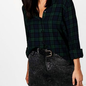 Tall Holly Checked Shirt | Boohoo