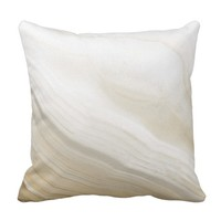 Marbled Agate Wooden Throw Pillow