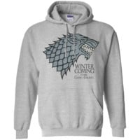 Official T Shirt Game of Thrones Black Stained G185 Gildan Pullover Hoodie 8 oz.