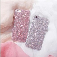 Hot  Selling Flashing Powder Glitter Case for iPhone 6 6s Plus Soft TPU Cover Mobile Phone Shell For iphone 7 7Plus Phone Cases