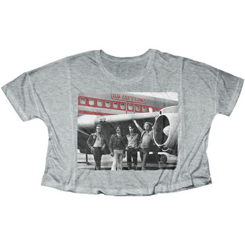 Led Zeppelin  Zep Plane Girls Jr Heather