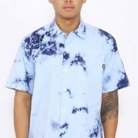Stussy, Tie Dye Button-Up Shirt - Blue - Button-Ups - MOOSE Limited