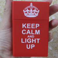 Adidas & CHICAGO BULLS & KEEP CALM AND LIGHT UP & Chromehearts Fashionable Silicone Case Smoking Case Red