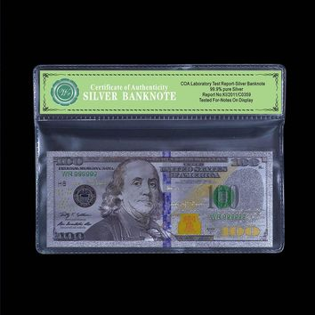 99.9% Silver Banknotes  Foil With Certificate of Authenticity
