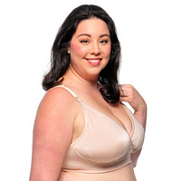 Smoothly Divine™ Tee-Shirt Soft-Cup Nursing Bra with Removable Pads | Nude