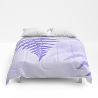Fern Leaves In Violet Comforters by byjwp