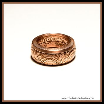 Globes and Gears Copper Ring - Size 10