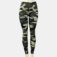 Army Girl Print Leggings