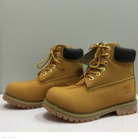 Timberland boots for men and women shoes waterproof Martin boots lovers Yellow