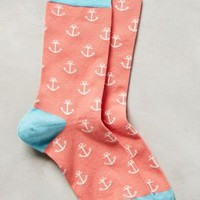 Seafarer Socks by Jonathan Adler Pink One Size Socks