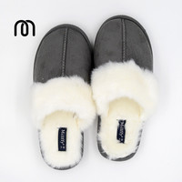 Millffy Nordic Faux Trim rabbit fur slippers womens shoes faux fur slippers Memory foam slippers eva slipper womens suede shoe