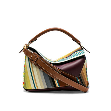 Loewe Striped Puzzle Bag in Multicolour | FWRD
