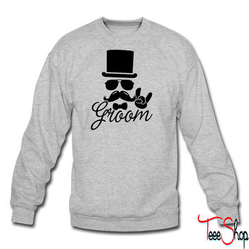 Groom Wedding Marriage Stag do night bachelor crewneck sweatshirt
