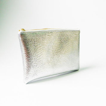 Silver Metallic Purse,Iridescent Purse,Zipper Purse,Women Fashion Purse,Mermaid Pouch,Handbag,Hand Purse,Clutch,Cosmetic Bag,Make up Bag