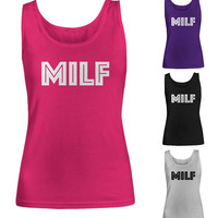 MILF Shirt   Funny Gift For Wife   Mother's Day Gift   Fit Moms   MILF Tee   Crude Humor   Mom I'd Like to F   Women's Tank Top   Mom TShirt