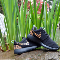Roshe Leopard Print Custom Made to Order Women's Nike Rosherun Hand Painted