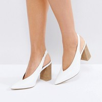 New Look Slingback Block Heel at asos.com