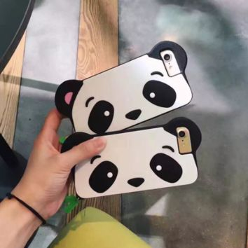 Cute Panda Phone Case Cover for Apple iPhone 7 7 Plus 5S 5 SE 6 6S 6 Plus 6S Plus + Nice gift box! LJ161007-006
