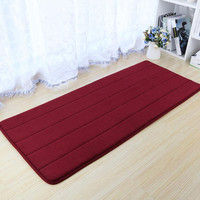 40*100cm Coral Fleece Memory Foam Carpet Non-slip Water Absorption Area Rug Doormat Floor Mat For Bathroom Kitchen Home Supplies