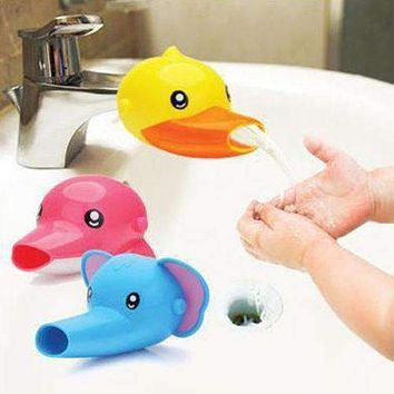 1 pc Free shipping Happy Fun Animals Faucet Extender Baby Kids Hand Washing Bathroom Sink Gift