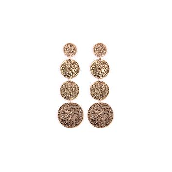 Scratch Disc Drop Earring