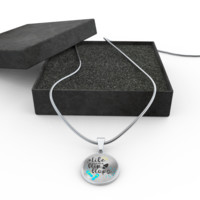 Life Is Better In Flip Flops Pendant Adjustable Necklace (Gold or Silver) Engraving Option