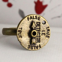 Steampunk false and true adjustable ring by Sevinoma on Etsy