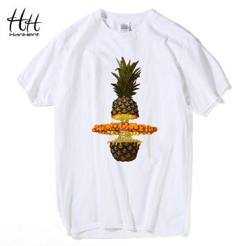 Fashion Bang Pineapple Top Tees 3D Print T Shirts Men Swag Cotton O-Neck Men's T-shirt Man Summer Style