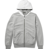 Berluti - Leather-Trimmed Loopback Cotton-Jersey Zip-Up Hoodie