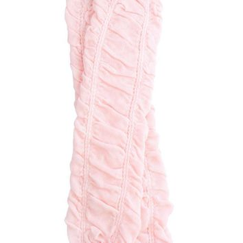 Heavenly Pink Rouched Leg Warmers
