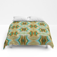 Comforter, Brown and blue bedding, Brown and blue Bedroom décor, brown and blue comforter, abstract comforter, saribelle art, art,comforter