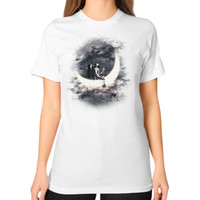 Moon Sailing Unisex T-Shirt (on woman)