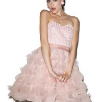 Glamorous Rose Bride Ruffled Dress | Dolls Kill