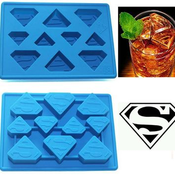 Star Wars Force Episode 1 2 3 4 5 Funny  Superman Ice Cube Tray Ice Cream Tools Frozen Popsicle Ice Mold Sorvete Moulds Party Drink Ice New Tricks Maker AT_72_6