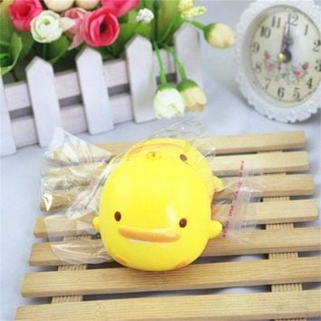 VONFC9 Simulation ducks Squishy Cute Yellow Duck Bread Phone Straps Slow Rising Bun Charms Gifts Toys for children kids