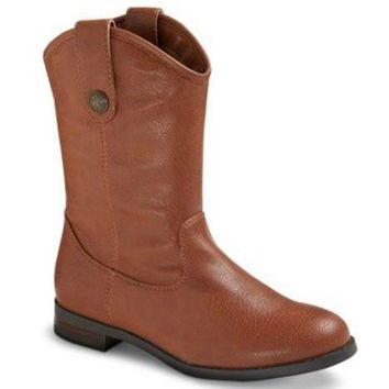 Teenage Cherokee Annabelle Riding Boots (Cognac)