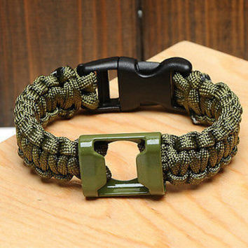 New Men Girl Bottle Opener Survival Paracord Bracelet Outdoor Gear 3C