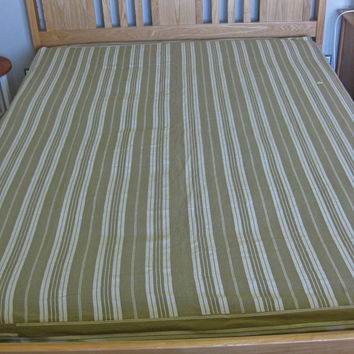 Striped ticking mattress cover - vintage French mattress ticking