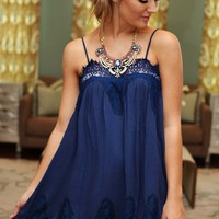 Sleepless Nights Dress: Navy - What's New - Hope's Boutique