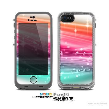 The Vibrant Multicolored Abstract Swirls Skin for the Apple iPhone 5c LifeProof Case