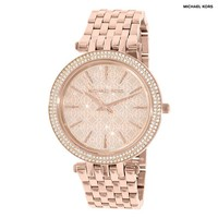 Michael Kors Women's Watch with Rose Gold-Plated Stainless Steel Strap