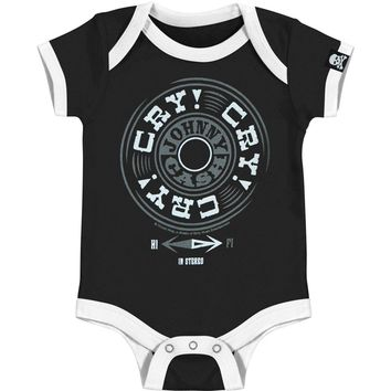 Johnny Cash Boys' Bodysuit Black Rockabilia